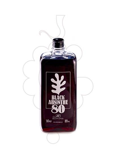 Photo Aperitif wine Absenta 80 Black Plastic Flask