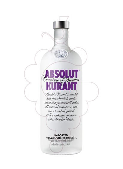 Photo Vodka Absolut Kurant