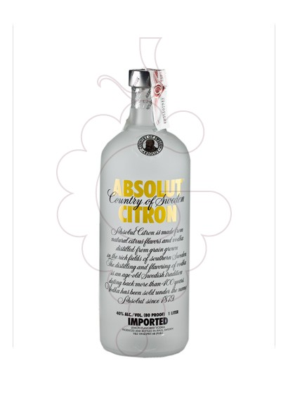 Photo Vodka Absolut Citron