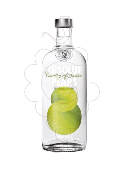 Photo Vodka Absolut Pears