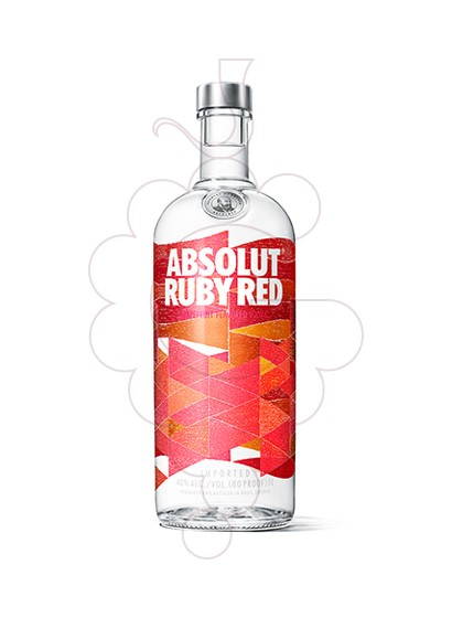 Photo Vodka Absolut Ruby Red