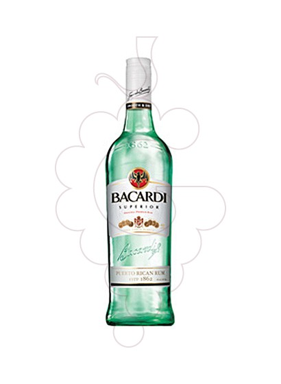 Photo Rum Bacardi refillable