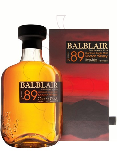 Photo Whisky Balblair Vintage 1989