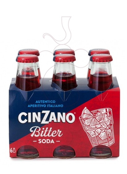 Photo Aperitif wine Bitter Cinzano Soda-rtr. pack 6 u