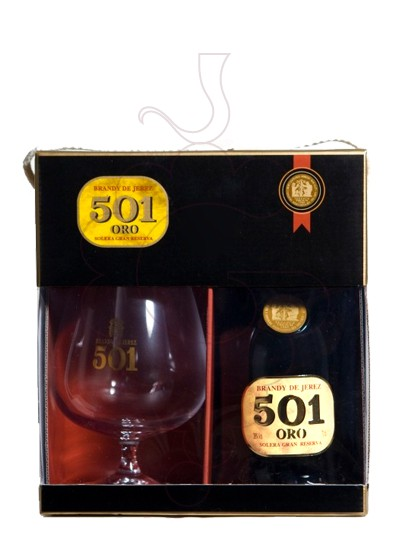 Photo Brandy 501 Oro Pack (1 u + Copa)