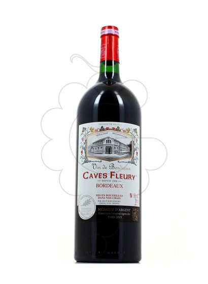 Photo Red Magnum Caves Fleury  red wine