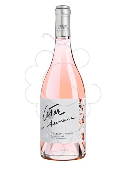 Photo Rosé Ch Coussin César à Sumeire rosé wine