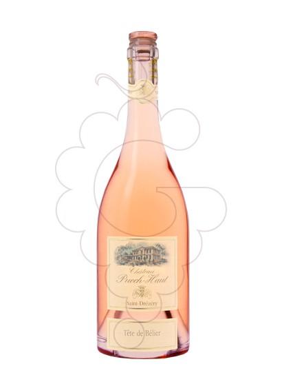 Photo Rosé Chateau Puech-Haut Tête de Bélier rosé wine