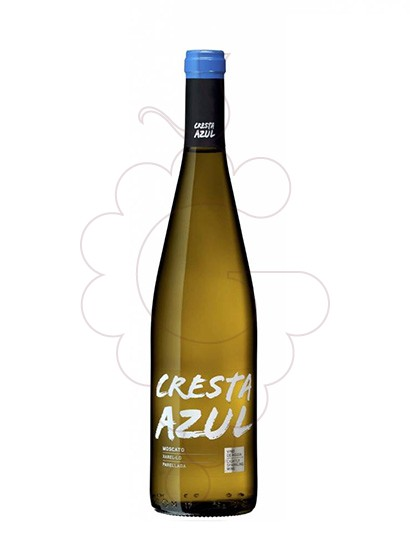 Photo Cresta Azul Blanc Dolç white wine