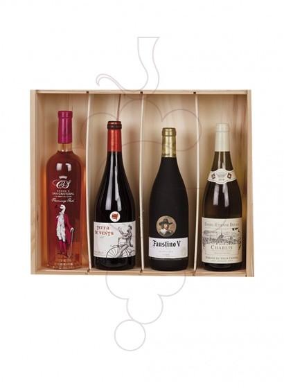 Photo Christmas boxes 4 International Wine Bottles Pack
