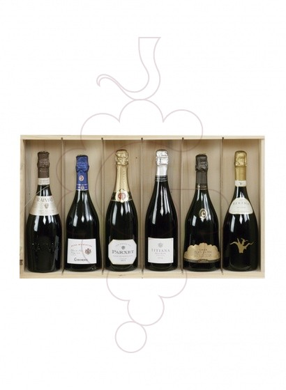 Photo Christmas boxes 5 Bottles Cava Pack + Sparkling Wine + Wine Accessories