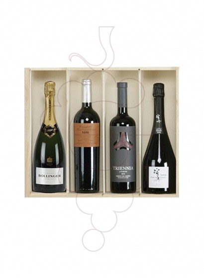 Photo Christmas boxes 2 bottles Champagne Great Quality Pack
