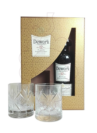 Photo Gift boxes Dewar's 12 Years Pack (1 u + 2 glasses)