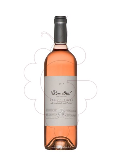 Photo Rosé Dom Brial Les Camines rosé wine