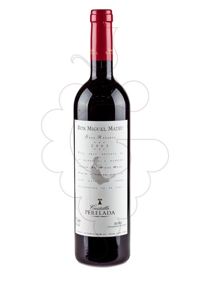 Photo Don Miguel Mateu Reserva Especial red wine
