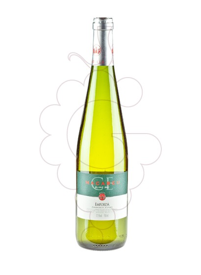 Photo Espolla Blanc Sec Macabeu white wine