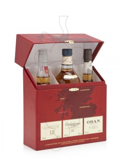 Photo Whisky Estoig Vermell Glentle Whiskies (Pack 3 u mini)