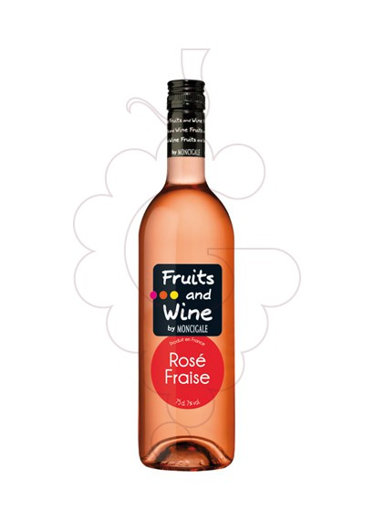 Photo Aperitif wine Fruits and Wine Rosé Fraise