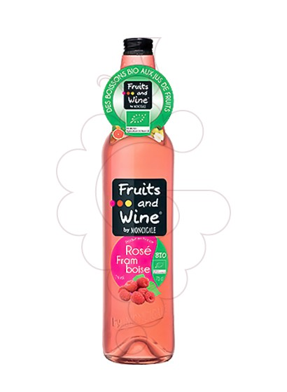Photo Aperitif wine Fruits and Wine Rosé Framboise Bio