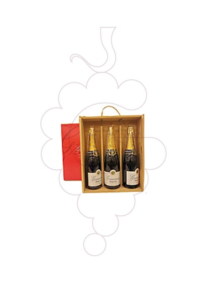Photo Gift boxes Gramona Imperial Brut (Pack fusta 3 u)
