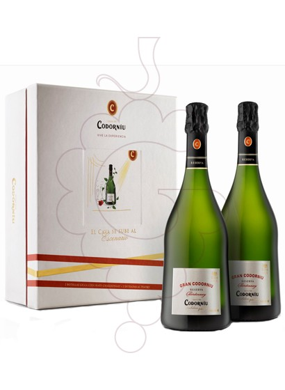 Photo Gift boxes Gran Codorniu Chardonnay Pack 2 u
