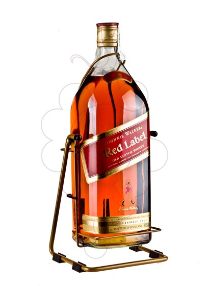 Photo Whisky Johnnie Walker Red Label with Cradle