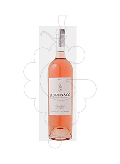 Photo Les Pins & Co Rosat  rosé wine