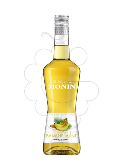Photo Liqueur Licor Monin Creme Banane