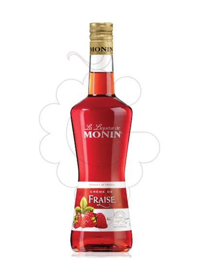 Photo Liqueur Licor Monin Creme Fraise