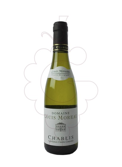 Photo Louis Moreau Chablis (mini) white wine