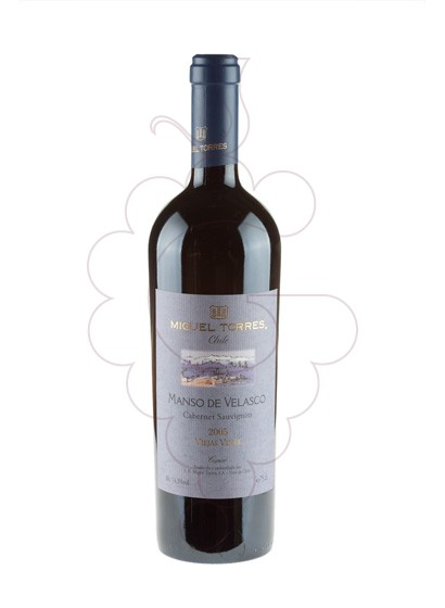 Photo Manso de Velasco Negre red wine