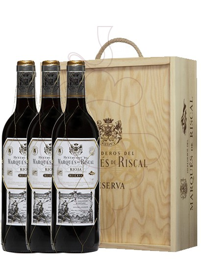 Photo Gift boxes Marques de Riscal Reserva (pack fusta 3 u.)
