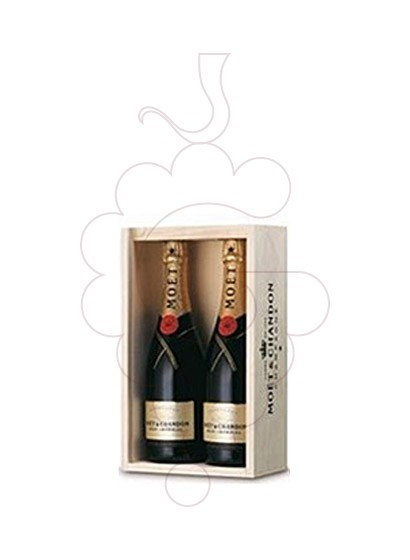 Photo Gift boxes Moet & Chandon Brut I. (Pack Fusta 2 u)
