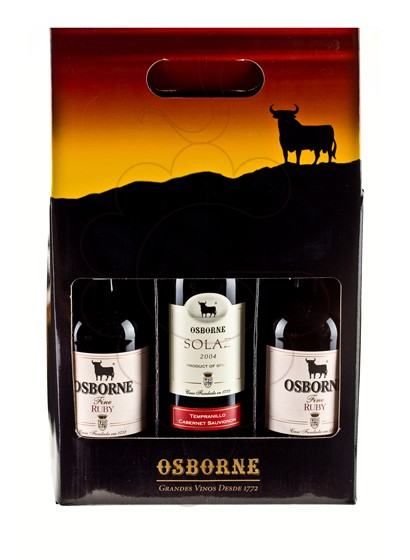 Photo Osborne Ruby Pack 2 u + 1 u Solaz fortified wine