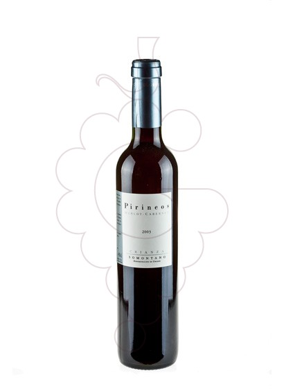 Photo Pirineos Merlot Crianza (mini) red wine