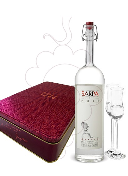 Photo Grappa Poli Sarpa Pack (1 u + 2 glasses)