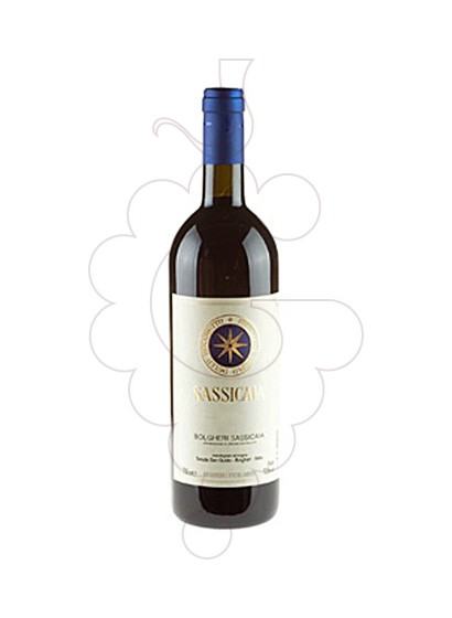 Photo Sassicaia  red wine