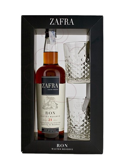 Photo Gift boxes Zafra Master Reserva 21 Years Pack (1 u + glasses)